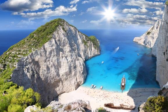 Plaja Navagio, Zakynthos, Grecia
