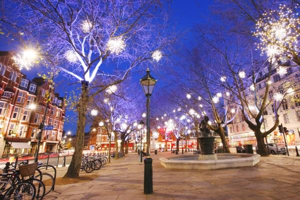 Craciun in Chelsea. Londra, Anglia