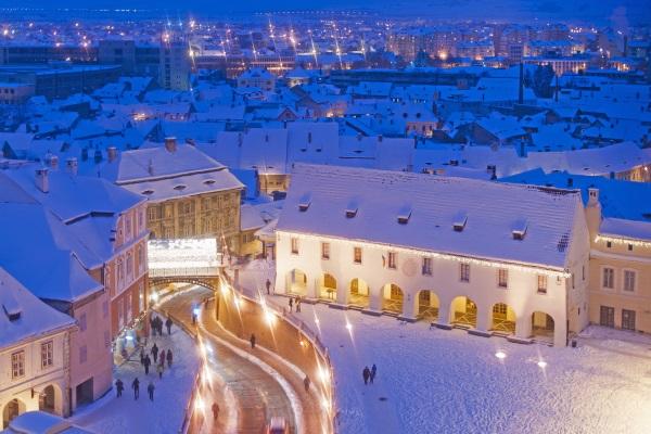 Iarna, Sibiu, Romania