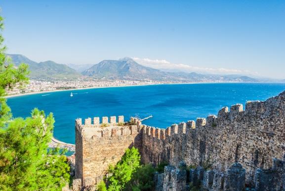 Castel in Alanya, Antalya, Turkey