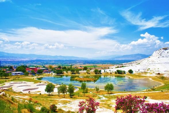 Terasele de calcar din Pamukkale, panorama
