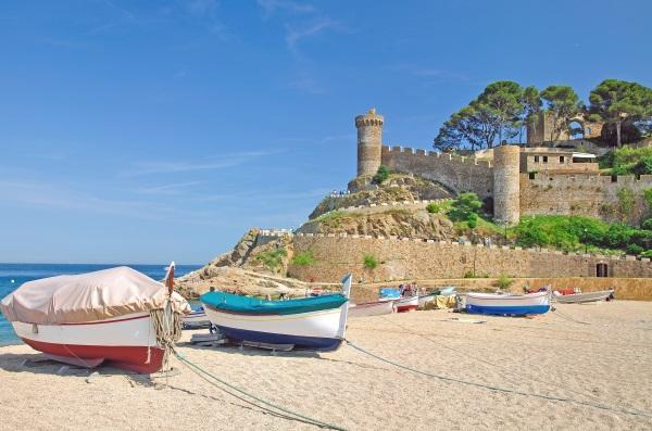 Fortareata, plaja Tossa de Mar, Costa Brava, Catalonia, Spania