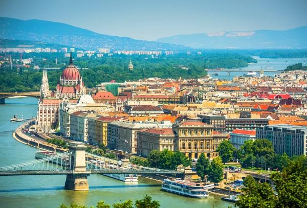 Dunarea, Budapesta, vedere panoramica