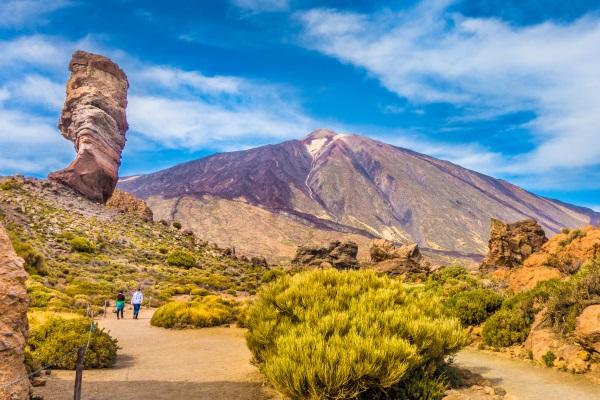 Panorama Roque Cinchado si varful Pico del Teide, Insulele Canare, Spania
