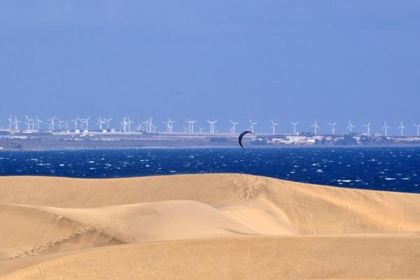 Dune de nisip, plaja Maspalomas, Gran Canaria