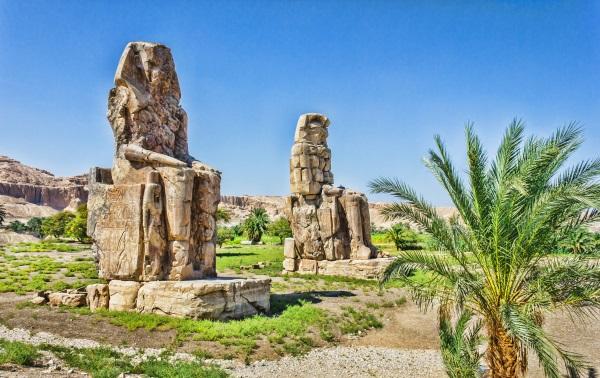 Colossi lui Memnon, Valea Regilor, Luxor, Egipt