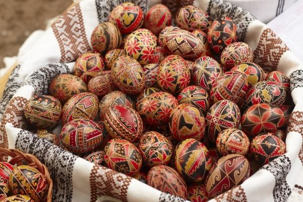 Oua incondeiate de Paste, Romania
