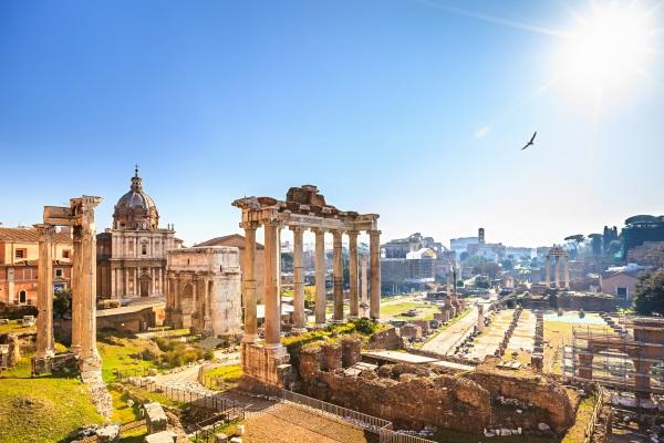 Ruine antice, Roma, Italia