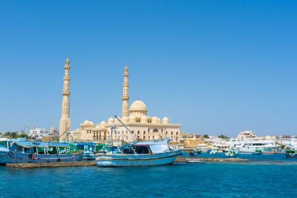 Port, Moscheea Centrala, Hurghada, Egipt