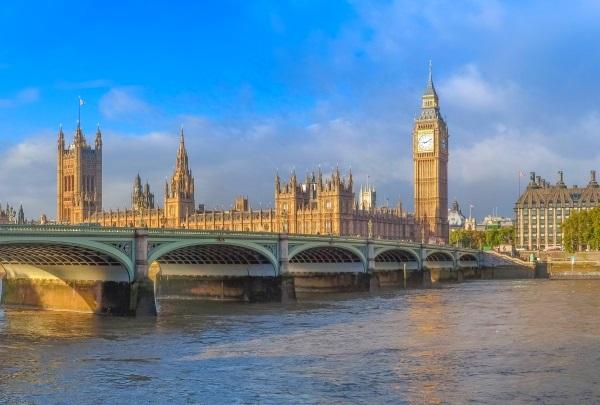 Podul Westminster, panorama Parlamentul si turnul Big Ben, Londra, Anglia