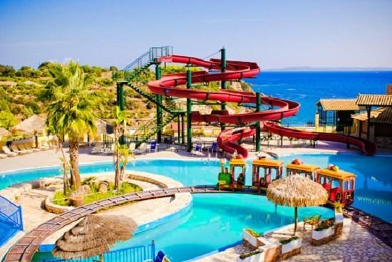 Zakynthos, Miro Zante Imperial Resort & Water Park, piscina, tobogane, mare