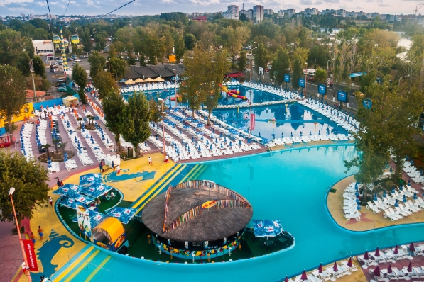 Aqua Magic is an outdoor water park in Mamaia shutterstock_252785314