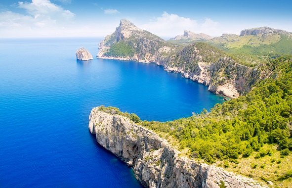 Formentor, Pollensa high aerial sea view in Mallorca balearic islands shutterstock_84830866