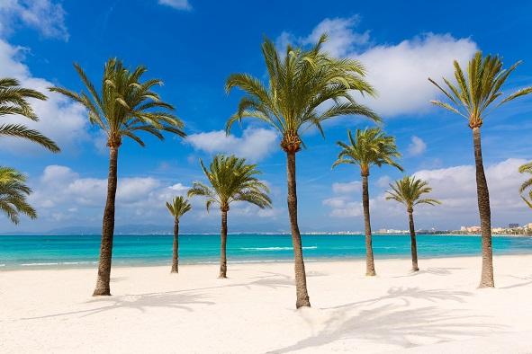 Majorca sArenal arenal beach Platja de Palma Llucmajor in mallorca Balearic Islands shutterstock_263984396