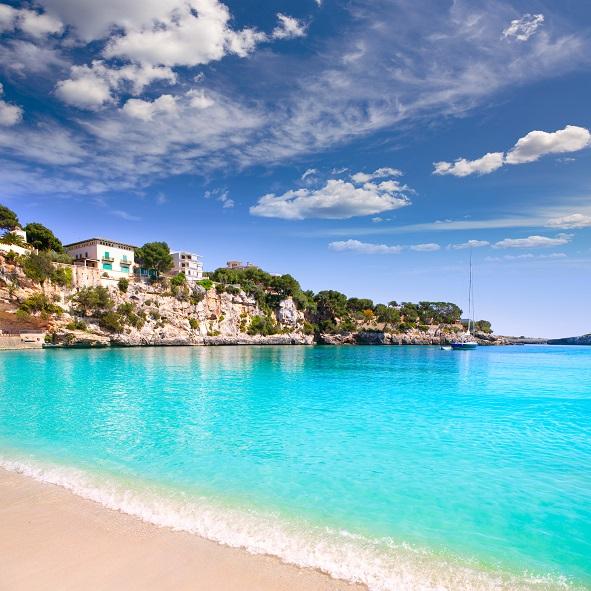 Porto Cristo beach in Manacor Majorca Mallorca Balearic islands shutterstock_175625243