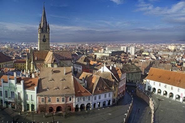 Sibiu - Aerial view
