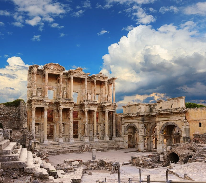 Celsus Library in Ephesus, Turkey shutterstock