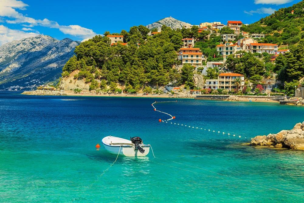 Brela beach, Dalmatia, Croatia